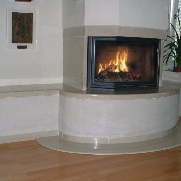 caminetti in pietra della lessinia o pietra di prun moderno