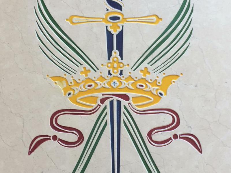 incisione su pietra logo azienda
